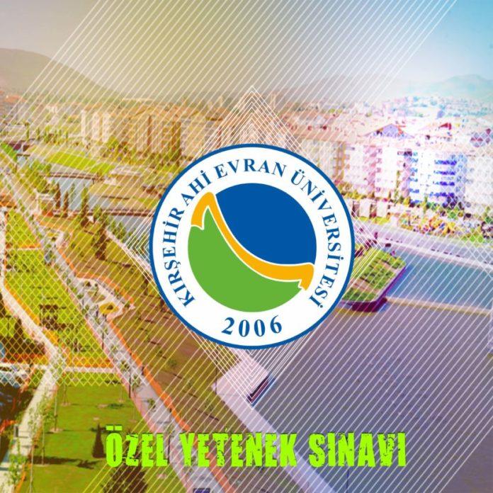 2018 kırşehir besyo özel yetenek sınavı